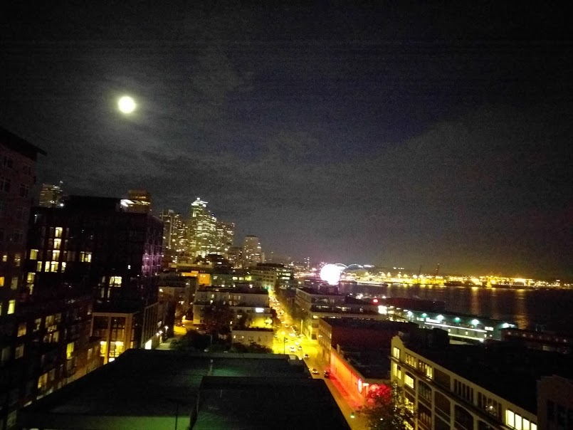 Seattle Night Sky Pam Klainer S Day